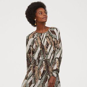 H&M Snake Print Maxi Dress NWT